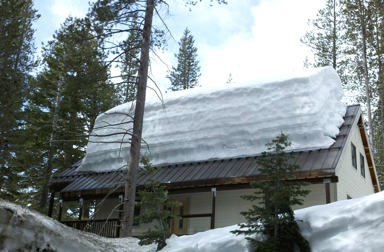 Задержание снега на крыше своими руками 89